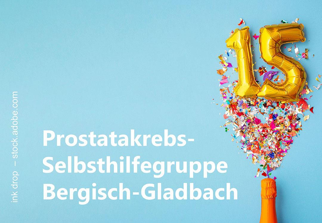 foto zum 15-jaehrigen jubilaeum der selbsthilfegruppe bergisch gladbach