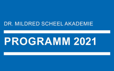 Jahresprogramm 2021 der Mildred Scheel Akademie