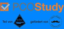 Logo PCO-Studie, die Teil der truenorth global registry-studie ist und von movember gefördert wird